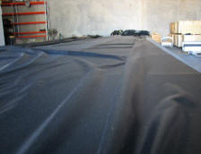 Liner on table