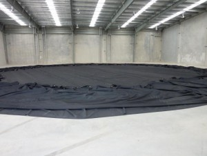 Ø24m x 7m Tank liner in final stages of production.