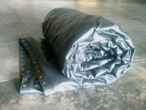 Ø10m x 10m high tank liner ready for packaging
